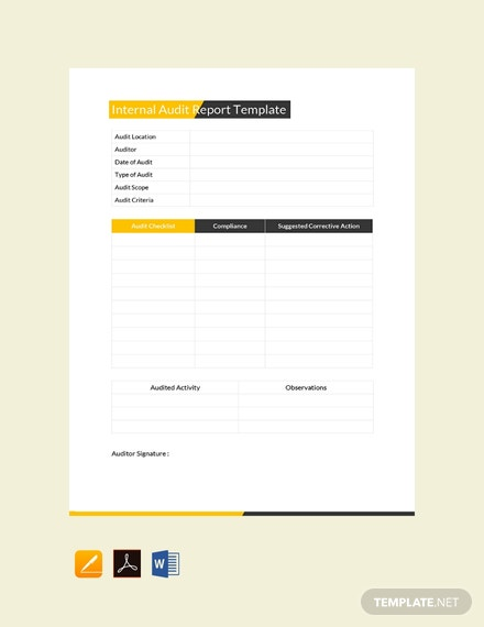 Free Internal Audit Report Template