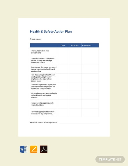 Free-Health-and-Safety-Action-Plan-Template