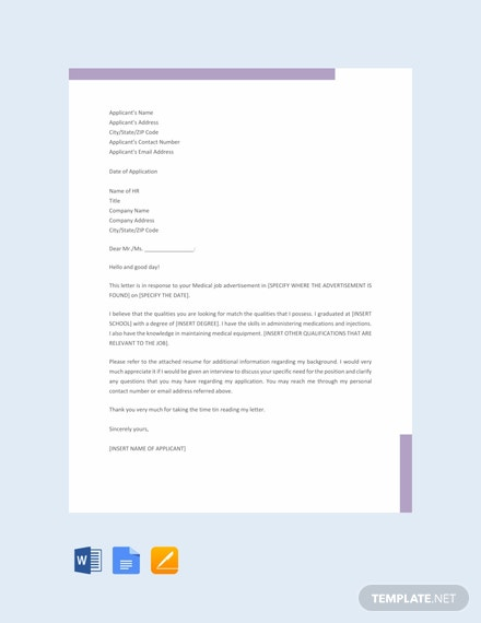 Free-Medical-Job-Application-Letter-Template-440x570-1 Application Letter For Accountant Fresher on letter of recommendation for accountant, cv for accountant, cover page for accountant, employment application for accountant, birthday for accountant, resignation letter for accountant, thank you note for accountant,