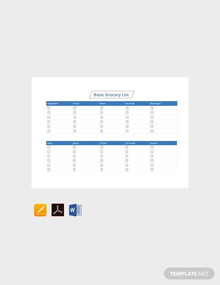 Free price list template download 23 lists in word for Grocery list template for mac