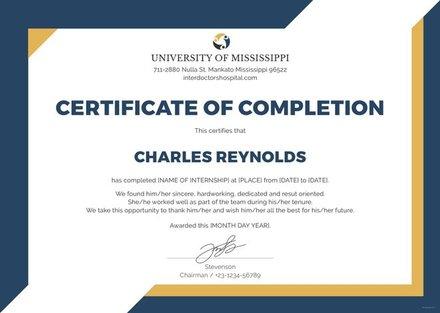 Free Internship Certificate Template in Illustrator ...