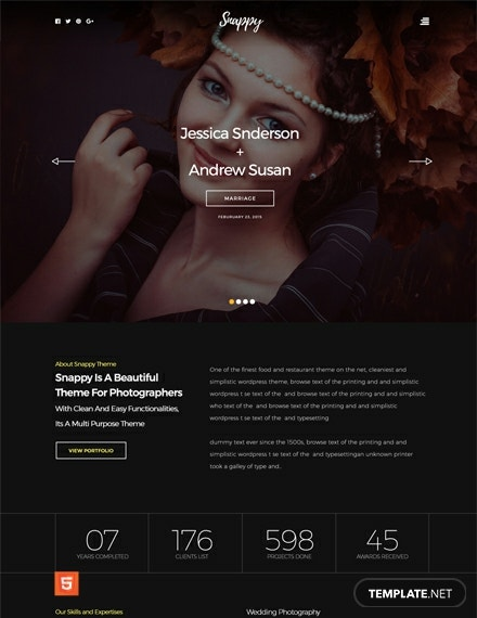 Free Snappy HTML5/CSS3 Website Template