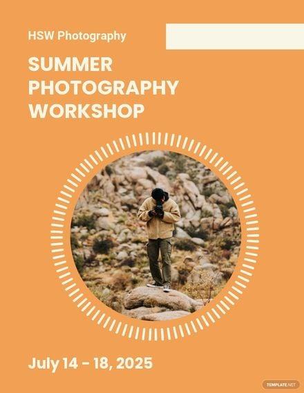 Photography Workshop Flyer Template.jpe