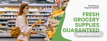 Grocery Supplies Facebook Cover Template