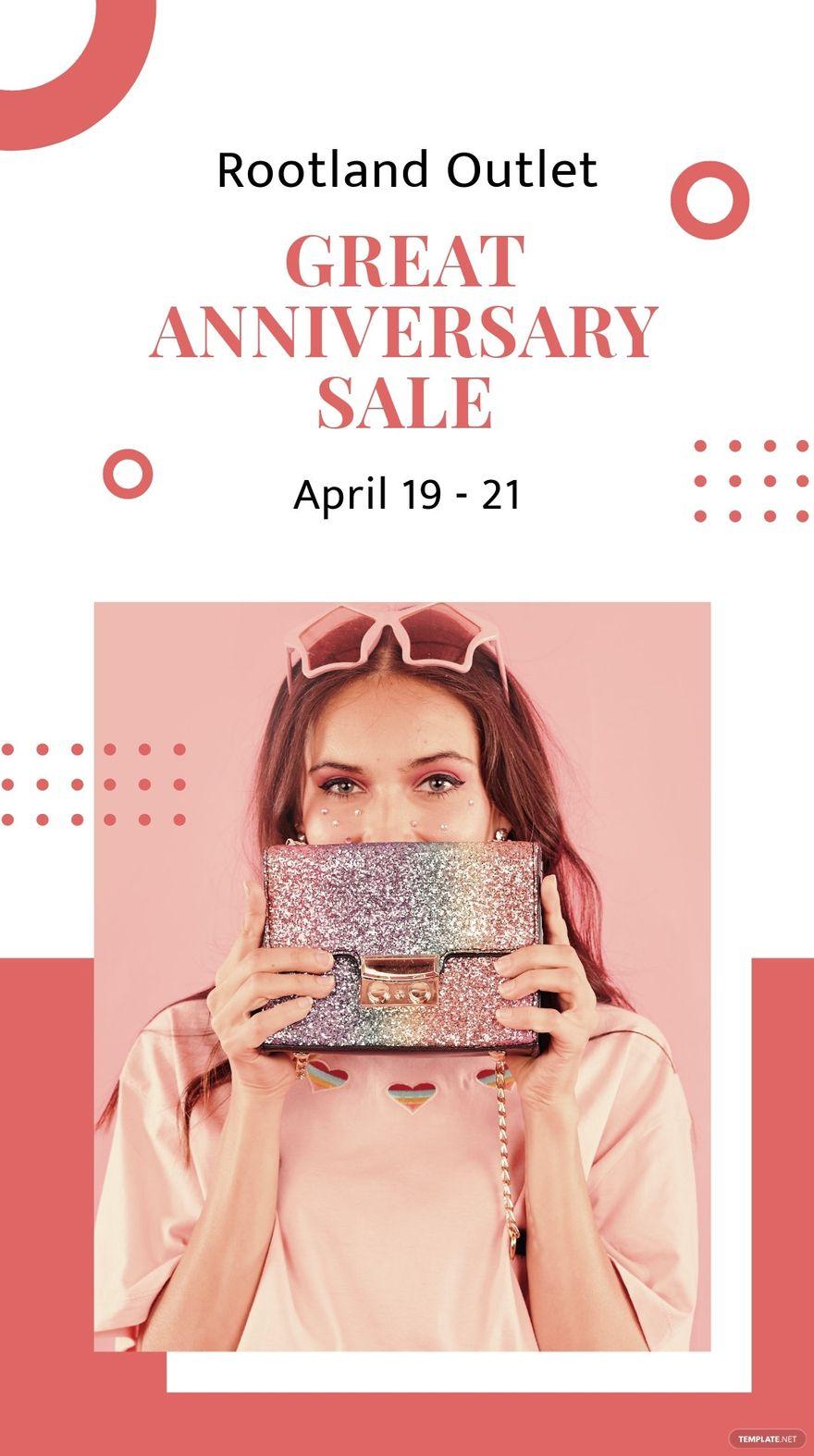 Anniversary Sale Instagram Story Template