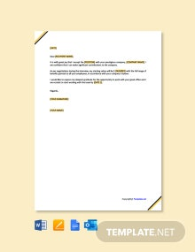 Free Employer Job Acceptance Letter Template