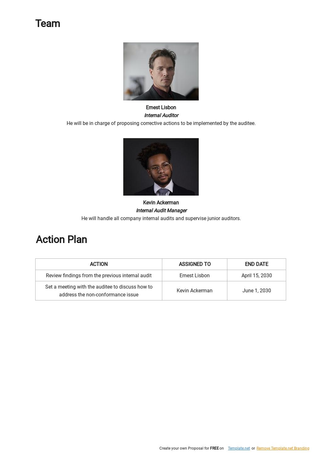 Audit Corrective Action Plan Template 2.jpe