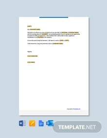 Free Employment Acceptance Letter Template