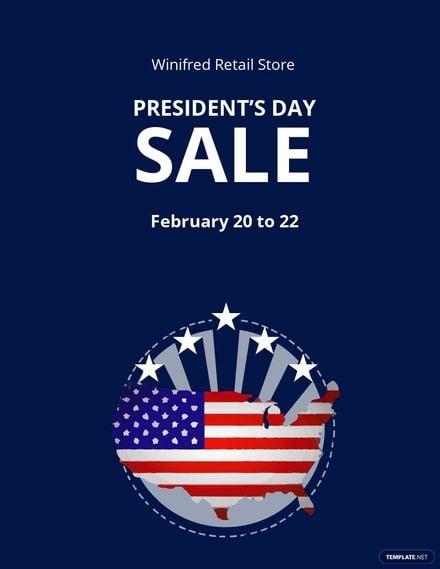 Presidents Day Sale Flyer Template.jpe