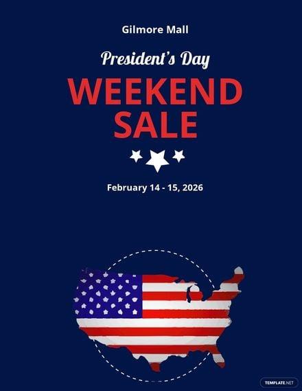 Presidents Day Weekend Sale Flyer Template.jpe