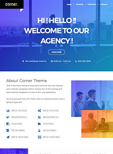 Corner Theme HTML5/CSS3 Website Template