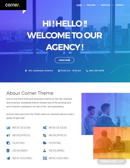 Free Corner Theme HTML5/CSS3 Website Template