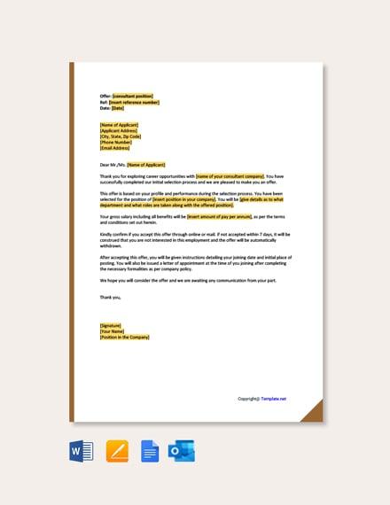 Consultant Offer Letter