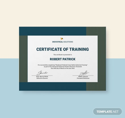 Free Security Training Certificate Template: Download 200+ ...