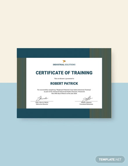 free training completion certificate template download 200
