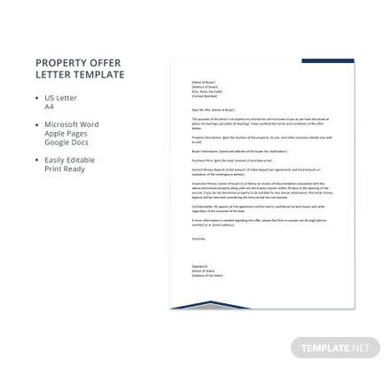 Property Offer Letter Template