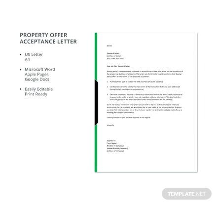 Property offer acceptance letter template download 700 letters in property offer acceptance letter template download 700 letters in word pages google docs template thecheapjerseys Image collections