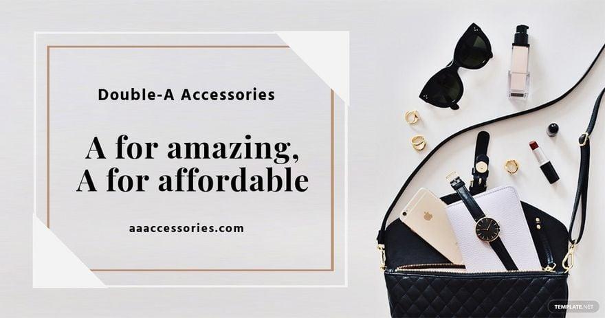 Accessories Shop Facebook Ad Template