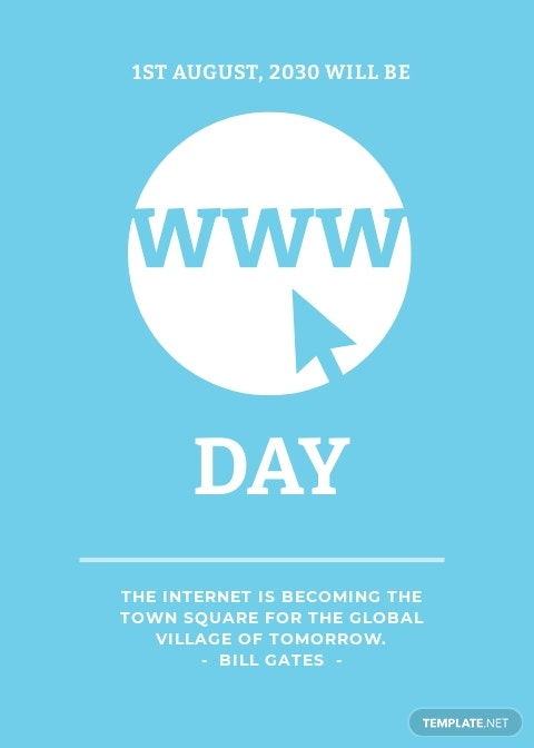World Wide Web Day Template
