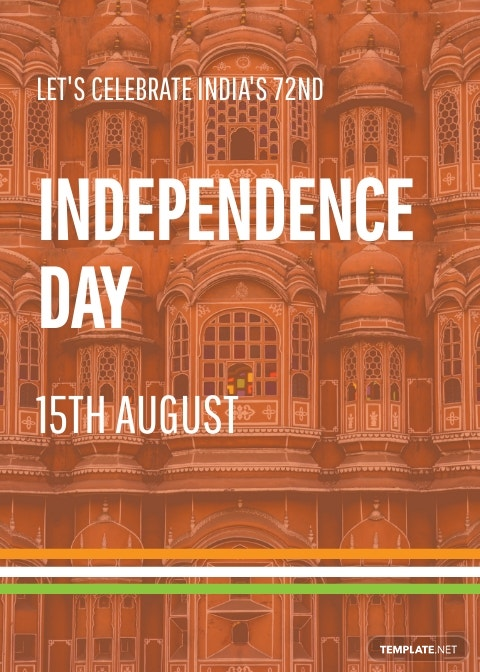 15th August Indian Independence Day Template