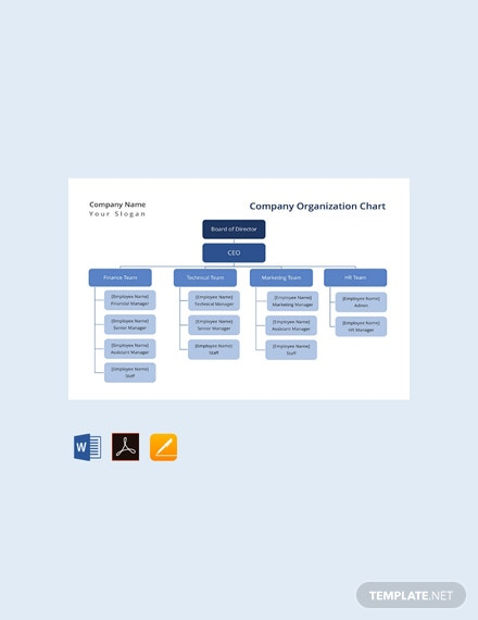 Free Company Organization Chart Template Download 166 Charts In