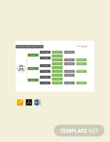 Free Corporate Organizational Chart Template