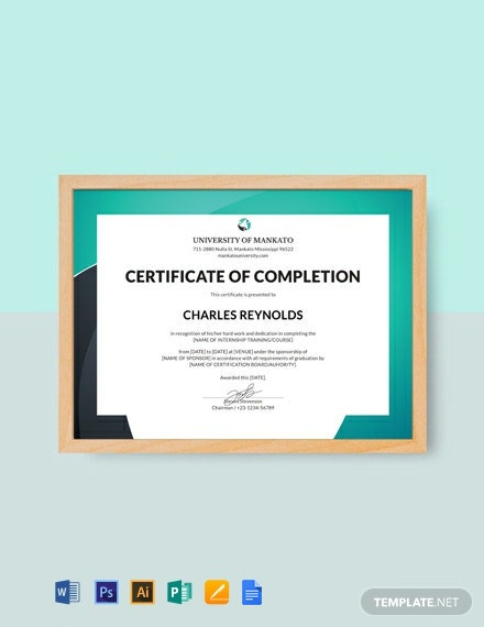 Free HR Internship Certificate Template