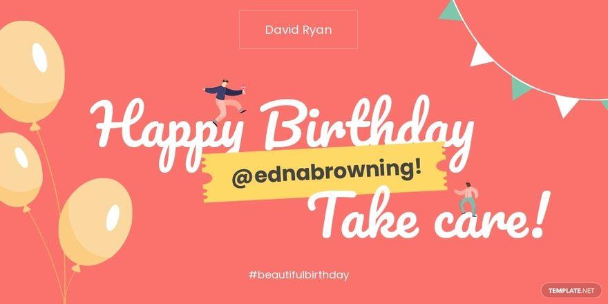 Birthday Twitter Post Template