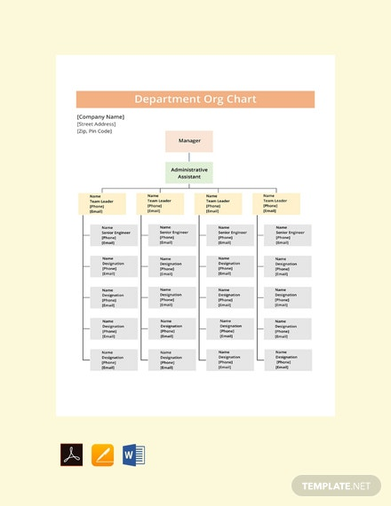 Free-Department-Org-Chart-Template
