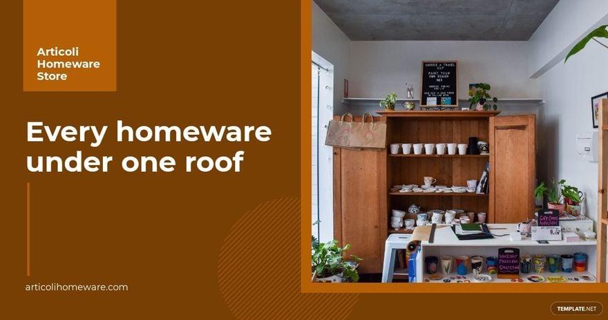 Homeware Store Facebook Ad Template