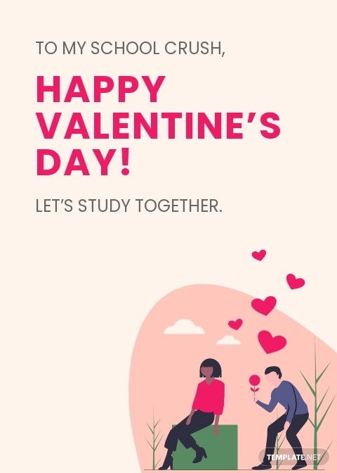 Valentines Day Card For Students Template