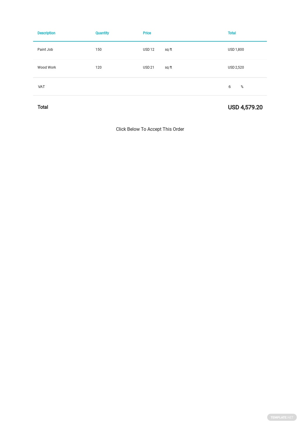 Contract Change Order Template