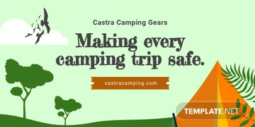 Camping Twitter Post Template