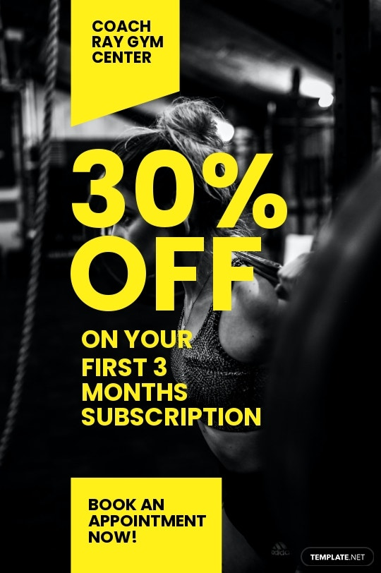 Gym Promotion Tumblr Post Template