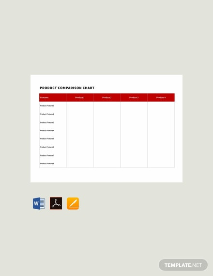 Free Product Comparison Chart Template