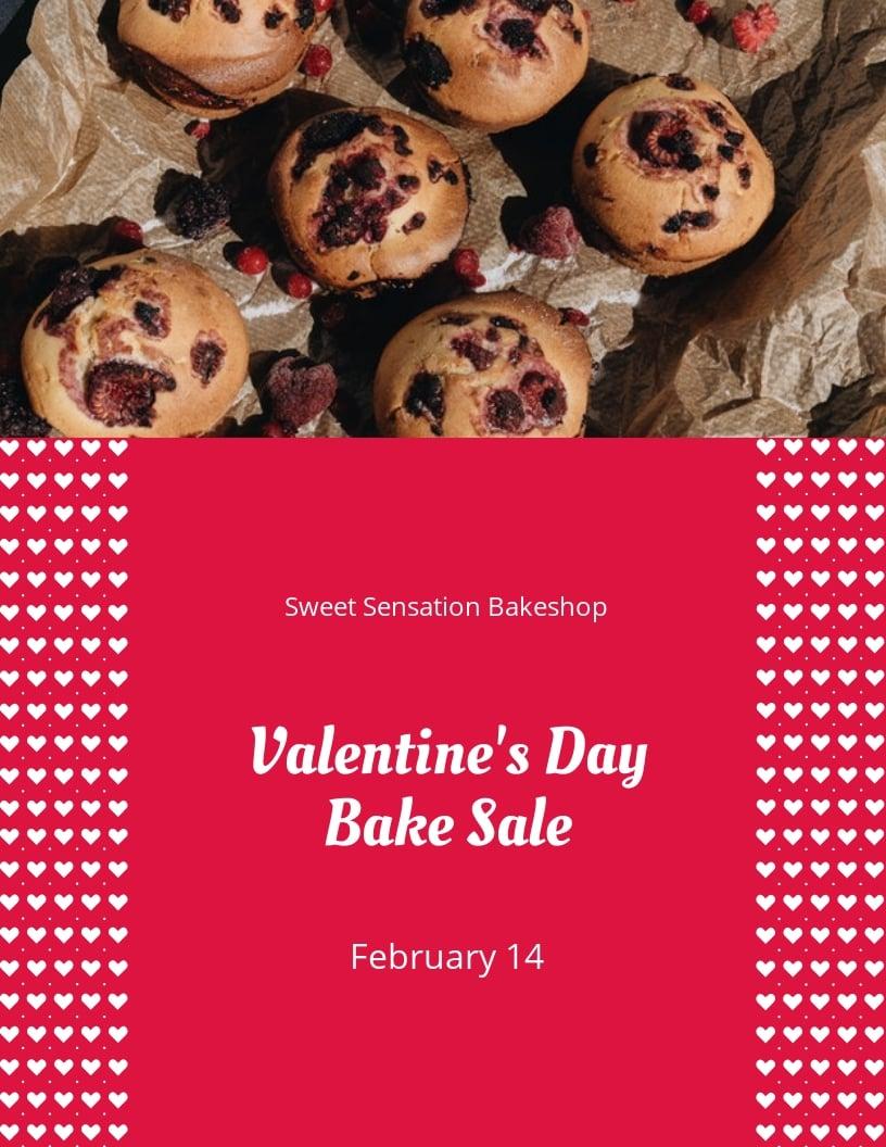 Valentines Day Bake Sale Flyer Template.jpe