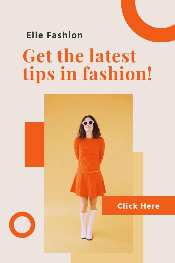 Fashion Tips Pinterest Pin Template