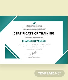 Free computer training certificate template in psd ms word free hospital training certificate template yelopaper Choice Image