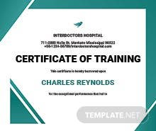 Security training certificate template in illustrator hospital training certificate template yadclub Images