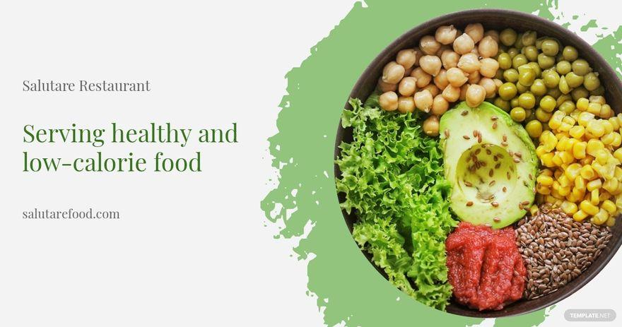Healthy Food Facebook Post Template.jpe