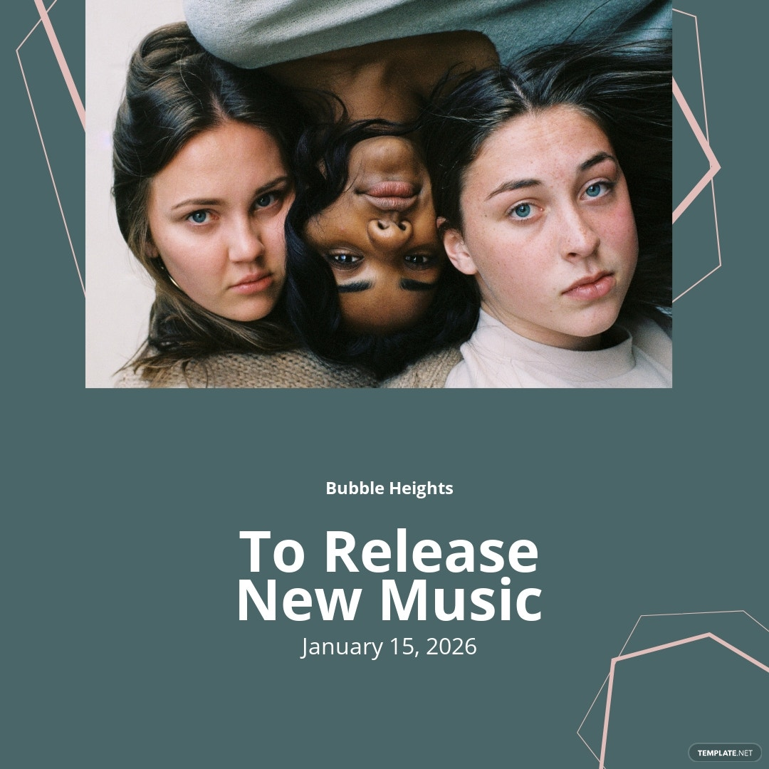 New Release Music Instagram Post Template.jpe