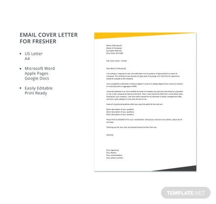 Free cover letter templates download ready made template altavistaventures Choice Image