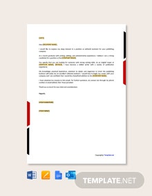 Free Email Cover Letter for Job Application