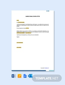 Free Sample Email Cover Letter Template