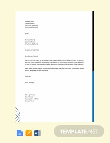 Free Customer Loan Rejection Letter