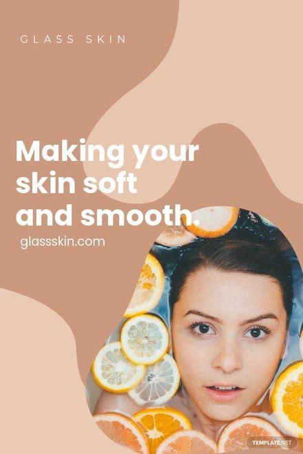 Skincare Pinterest Pin Template