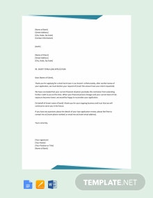 Free Short Loan Rejection Letter