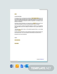 Free Letter to Cancel Business Partnership