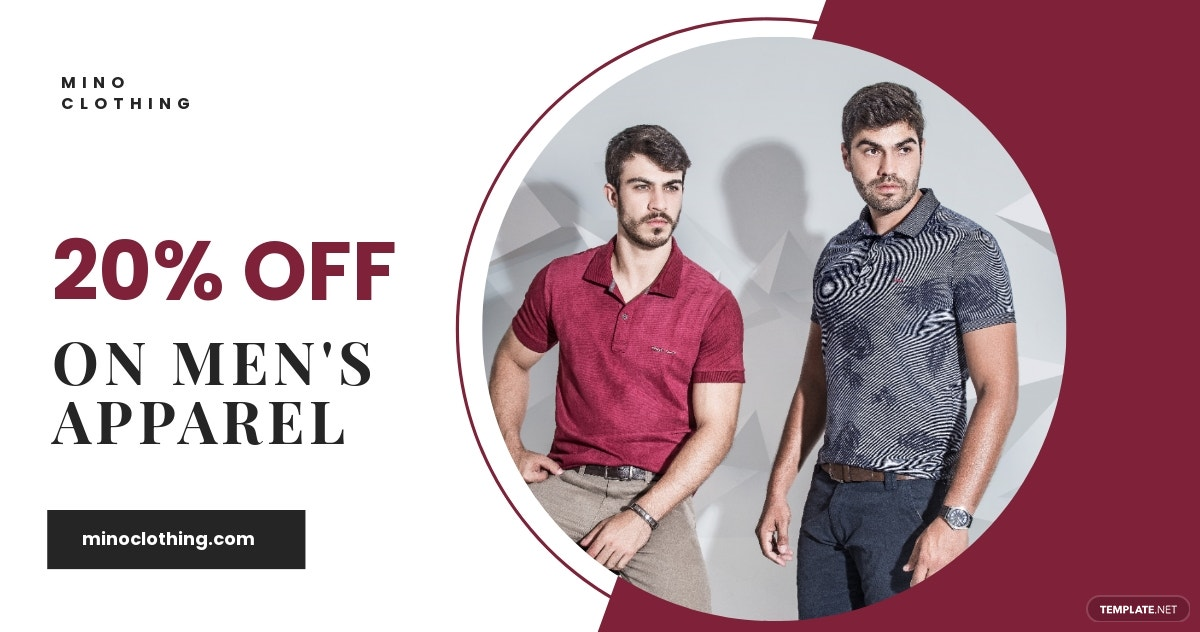 Men's Apparel Facebook Shop Ad Template