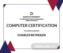 Free civil diploma certificate template in psd ms word publisher free computer diploma certificate template yadclub Images